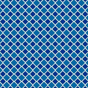 Talavera - Half Inch Large and Small Check - Large and Dark Blue