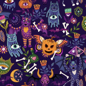 Mystic Halloween Sepia