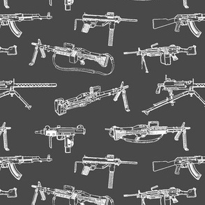 Machine Guns on Charcoal // Small
