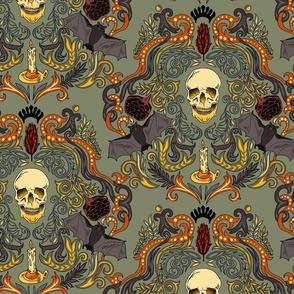 Vintage Skull & Bats