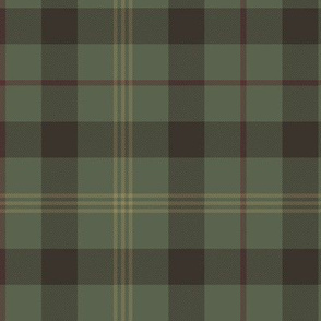 "Paton family tartan, 6"", traditional colors greyed"