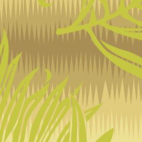 Fern Leaf Striae Khaki