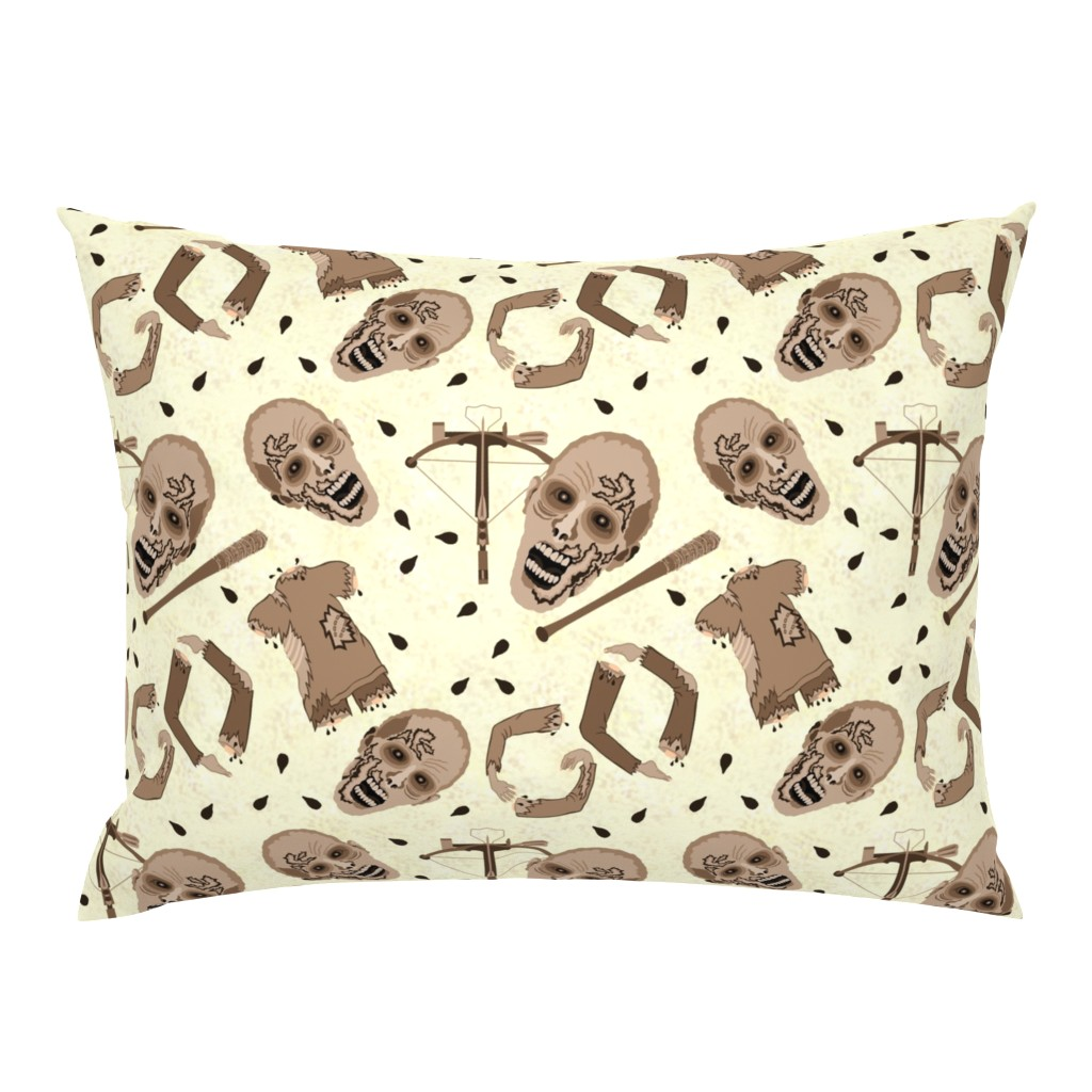 Campine Pillow Sham featuring Zombies In Sepia by theartofvikki