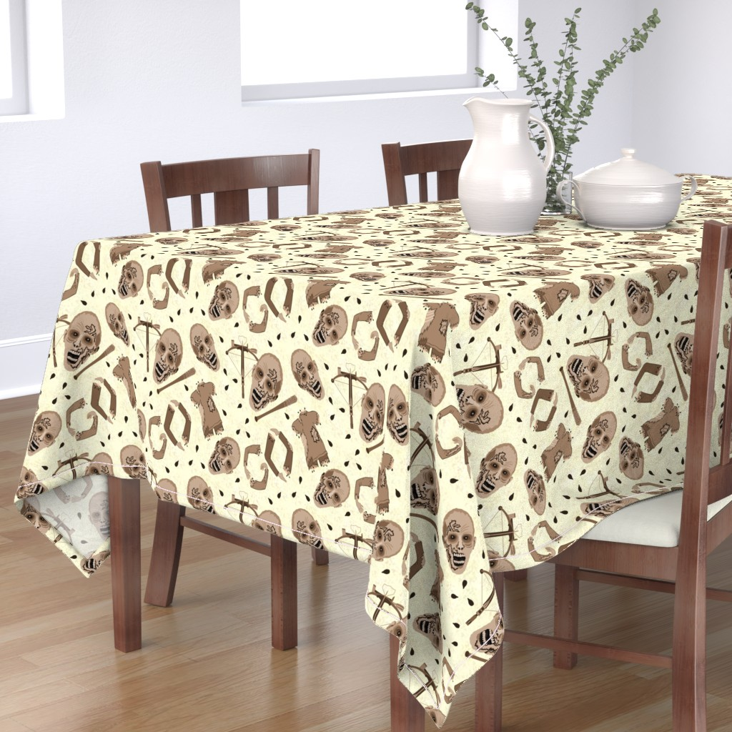 Bantam Rectangular Tablecloth featuring Zombies In Sepia by theartofvikki