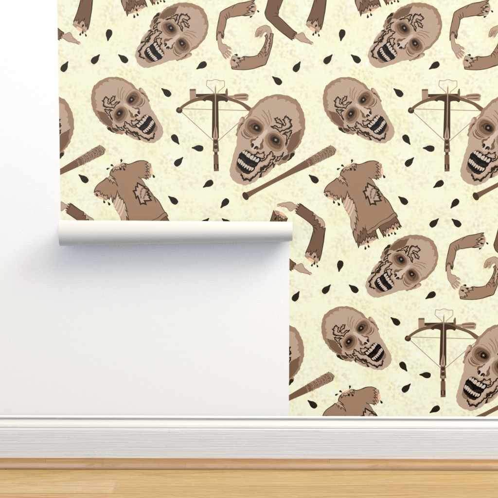 Isobar Durable Wallpaper featuring Zombies In Sepia by theartofvikki