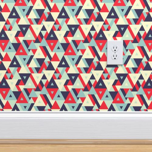 Wallpaper Abstract Geometric Triangles