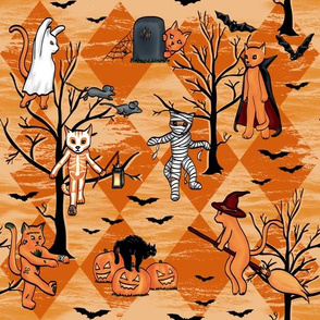 Halloween Cats (Orange, Orange, Trees)