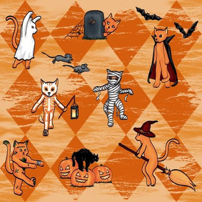 Halloween Cats (Orange, Orange)