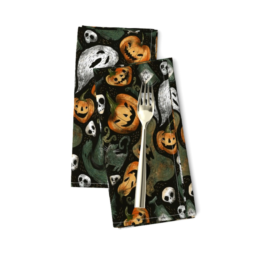 Amarela Dinner Napkins featuring halloween party by daria_nokso