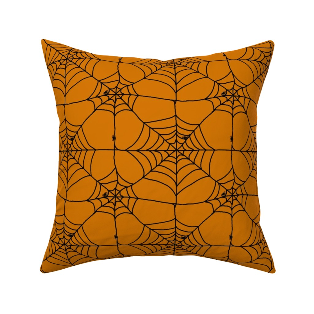Catalan Throw Pillow featuring Itsy Bitsy Spider by myartonfabric