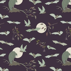 Bats in the Night,  Small - Grape