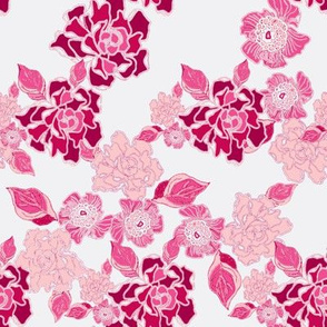 Blossoms in pink Colorway
