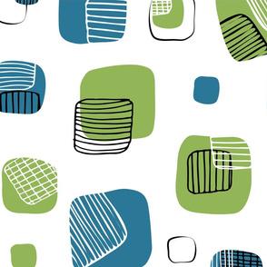 Grids - Kitchen Teatowel Print - by Kara Peters