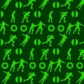 Derby Starz Green on Green