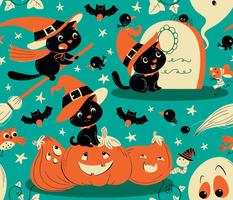 Halloween kitty witch