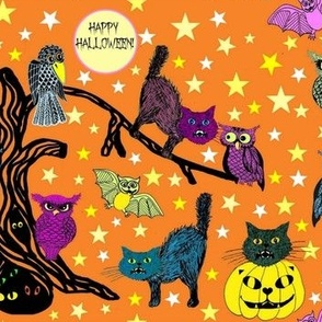 Halloween  woodland animals