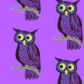 Halloween Owl // cute owl //  pink owl fabric // kids