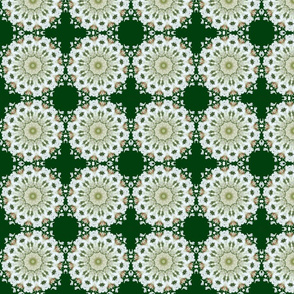 White Hydrangea Snowflakes 2346