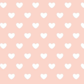 Hearts - Pink - Large