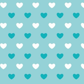 Hearts - Blues - Large