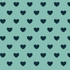 Hearts - Blue - Large