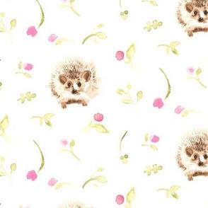 17-16F Hedgehog Pink floral olive green