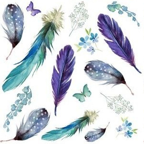 """6"""" LILAC MERMAID / FEATHERS & FLORALS"""