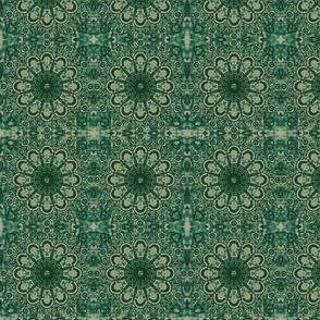 Dark Green Mandalas