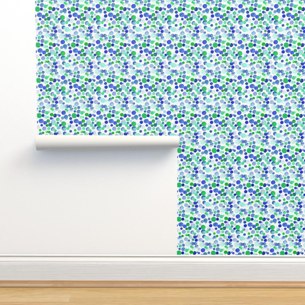 Isobar Durable Wallpaper featuring Watercolor Dots  by dinaramay