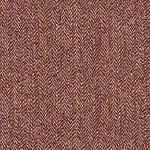 faux tweedy cherry-wood-brown herringbone tweed