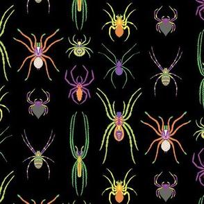Mini Pop Art Spiders in Black