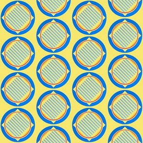 Nautical roundel on yellow by Su_G_©SuSchaefer