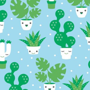 Kawaii love cactus botanical succulent garden spring summer cuteness japan lovers design green gender neutral