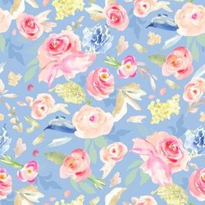 Vera Blue Watercolor Flowers