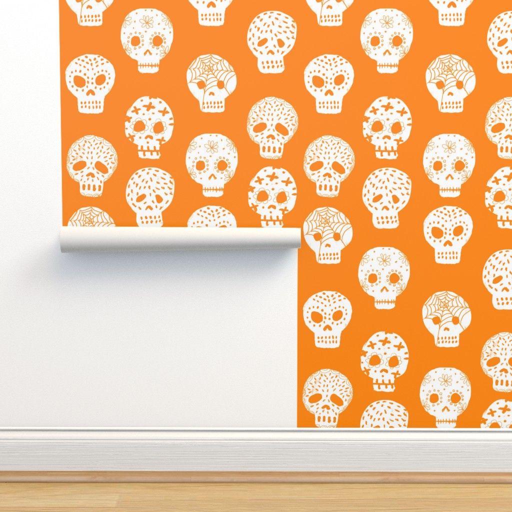 Sugar Skulls Fabric Day Of The On Isobar By Charlottewinter