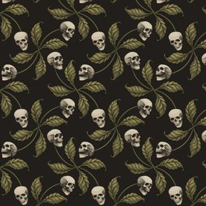 ★ CAMO CHERRY SKULL ★ Small Scale / Collection : Cherry Skull - Rock 'n' Roll Old School Tattoo Print