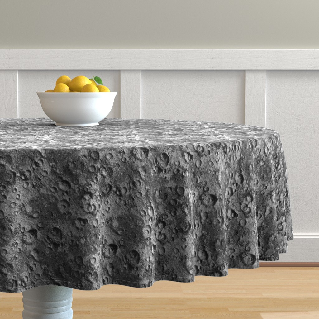 Malay Round Tablecloth featuring Endless Moon by thinlinetextiles