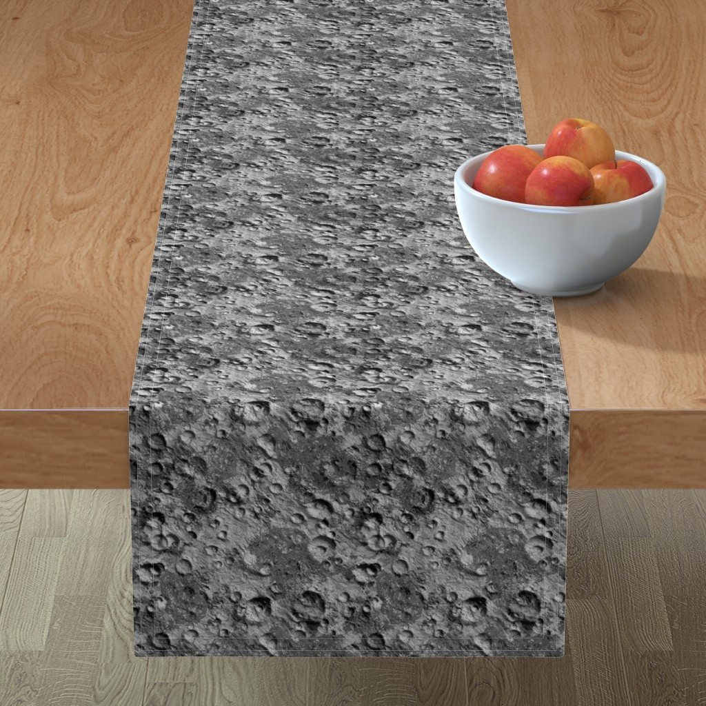 Minorca Table Runner featuring Endless Moon by thinlinetextiles