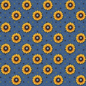 FF - Sunflower Print Blue