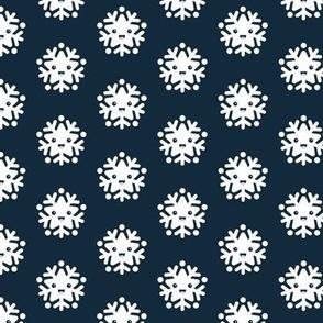 Kawaii love snow flake winter wonderland japan lovers design navy blue