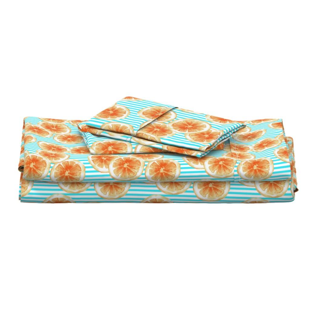 Langshan Full Bed Set featuring Tasty Orange Pattern by lalaliz