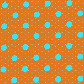 Orange and Blue Polka Party
