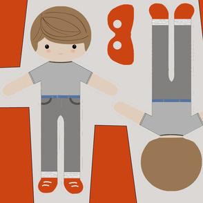 Ike SuperHero boy doll cut & sew