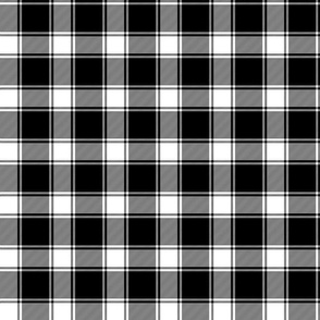 MacPhee / MacFie / MacFee black and white tartan, 3""