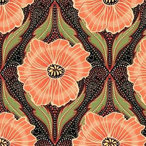 Vintage poppies floral