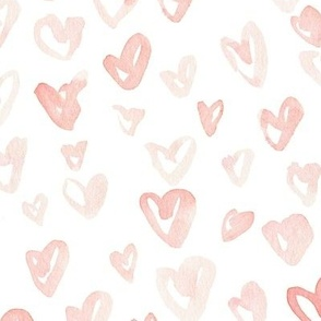 Pale Pink Hearts