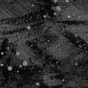 Lake Loon Black and Grey Abstract Print