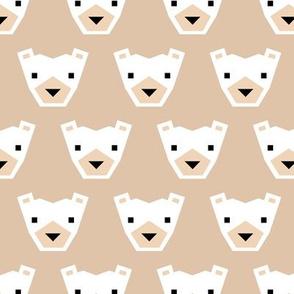 Geometric winter polar bears sweet Scandinavian animals gender neutral beige