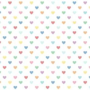 pastel rainbow fun hearts