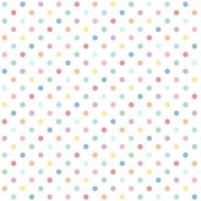 pastel rainbow polkas